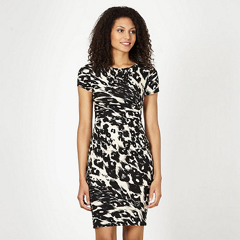 Star by Julien Macdonald - Designer natural abstract animal print dress