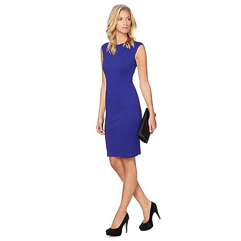 Star by Julien Macdonald - Designer blue textured shift dress