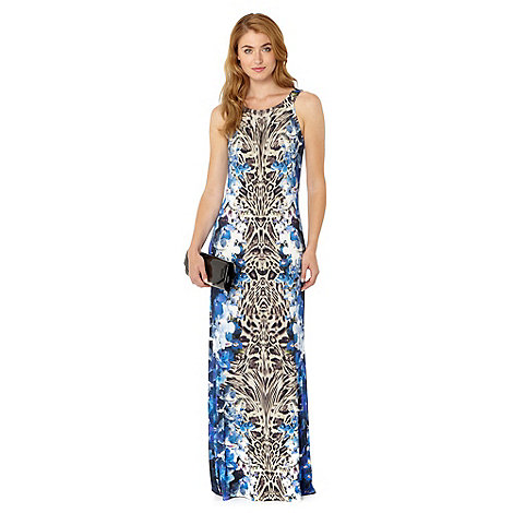 Star by Julien Macdonald - Designer blue floral and animal print maxi dress