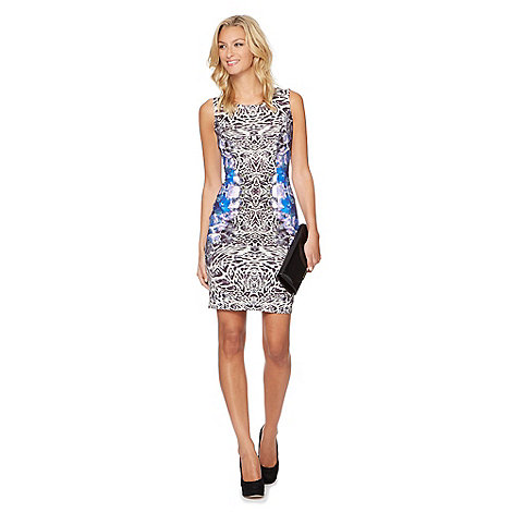 Star by Julien Macdonald - Designer blue animal floral printed scuba dress