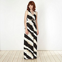 Star by Julien Macdonald - Designer natural triple striped embellished maxi dress