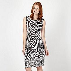 Star by Julien Macdonald - Designer black zebra print scuba dress