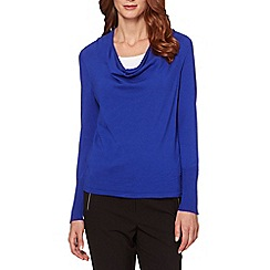 Star by Julien MacDonald - Designer blue cowl neck zip jumper