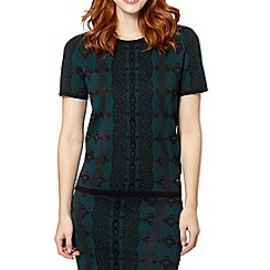 Star by Julien MacDonald - Designer dark green jacquard jumper