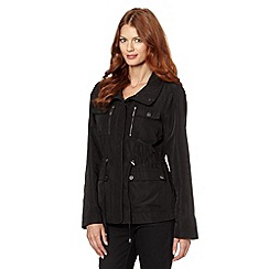 Star by Julien Macdonald - Designer black short casual parka jacket
