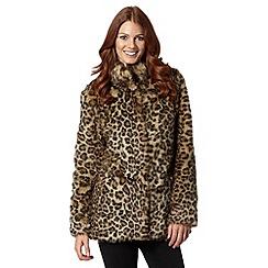 Star by Julien MacDonald - Designer natural leopard faux fur coat