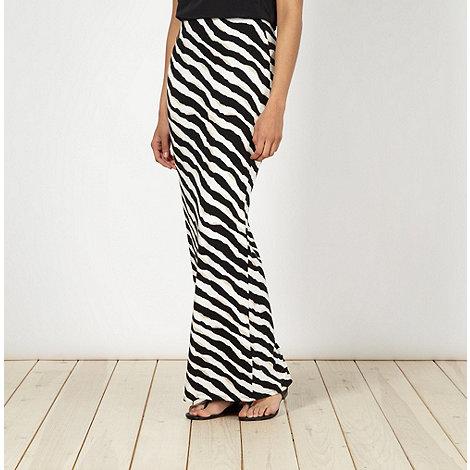 Star by Julien Macdonald - Designer beige triple striped maxi skirt
