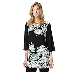 Star by Julien MacDonald - Designer green agapanthus jersey tunic
