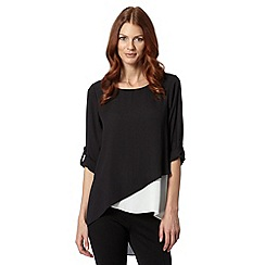 Star by Julien Macdonald - Designer black double layered asymmetric top
