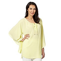 Star by Julien MacDonald - Designer yellow draped angel sleeve top