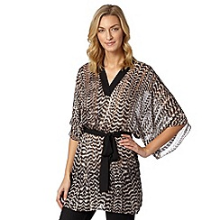 Star by Julien Macdonald - Designer natural striped kimono top