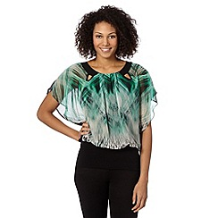 Star by Julien Macdonald - Designer green jungle print top