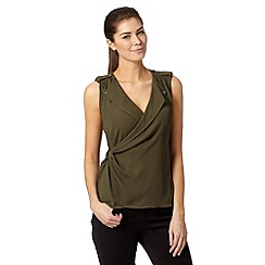 Star by Julien Macdonald - Designer khaki wrap cargo top