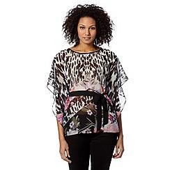 Star by Julien MacDonald - Designer black mixed chevron print kimono
