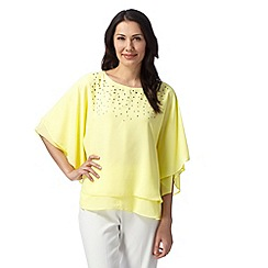 Star by Julien Macdonald - Designer light yellow angel studded top