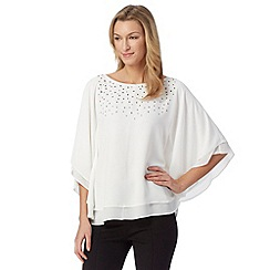 Star by Julien Macdonald - Designer ivory studded angel sleeve top