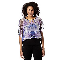 Star by Julien MacDonald - Designer lilac mirror floral bubble top