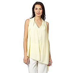 Star by Julien Macdonald - Designer light yellow asymmetric drape blouse