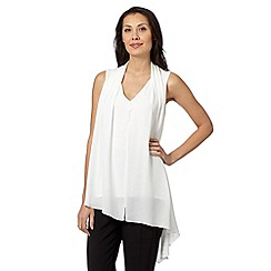 Star by Julien Macdonald - Designer ivory asymmetric drape blouse