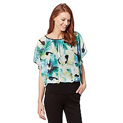 Star by Julien Macdonald - Designer green palm print bubble top