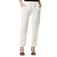 Star by Julien Macdonald - Designer satin ivory crepe trousers