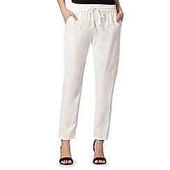Star by Julien Macdonald - Designer satin ivory crepe trousers