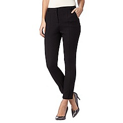 Star by Julien Macdonald - Designer black textured trousers