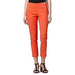 Star by Julien Macdonald - Designer dark peach compact cotton crop trousers