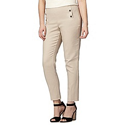 Star by Julien Macdonald - Designer natural compact cropped trousers