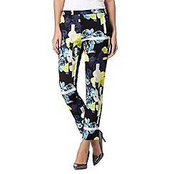 Star by Julien Macdonald - Designer lime floral scuba trousers
