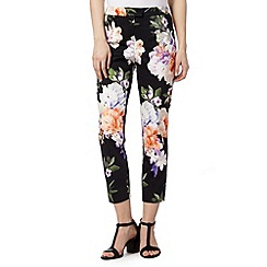Star by Julien Macdonald - Designer black floral bloom trousers