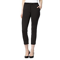 Star by Julien Macdonald - Designer black scuba cropped trousers