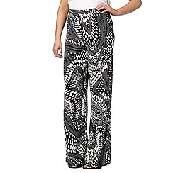 Star by Julien Macdonald - Designer black monochrome tribal print palazzo trousers