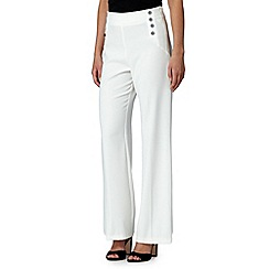 Star by Julien MacDonald - Designer ivory palazzo trousers
