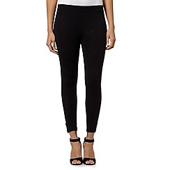 Star by Julien Macdonald - Designer black button side leggings