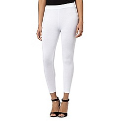 Star by Julien MacDonald - Ivory button side leggings