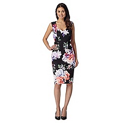 Star by Julien MacDonald - Designer black floral scuba dress