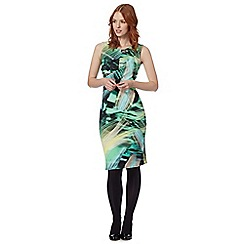 Star by Julien MacDonald - Designer green graphic print ruched scuba dress