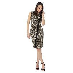 Designer khaki snake dress