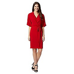Star by Julien Macdonald - Designer red crepe kimono dress