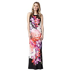 Star by Julien Macdonald - Designer black floral maxi dress