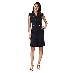 Star by Julien Macdonald - Designer dark blue denim utility dress