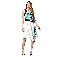 Star by Julien MacDonald - Designer cream tropical pansy dress