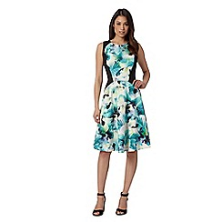 Star by Julien Macdonald - Designer green tropical pansy dress