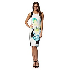 Star by Julien Macdonald - Designer white pansy scuba dress
