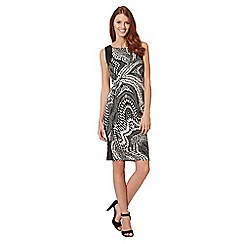 Star by Julien MacDonald - Designer black monochrome print scuba dress