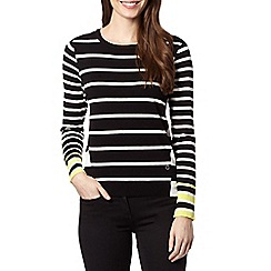 Star by Julien MacDonald - Designer black striped zip jumper