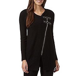 Star by Julien MacDonald - Designer black asymmetric zip cardigan