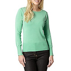 Star by Julien MacDonald - Designer green zip shoulder jumper