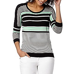 Star by Julien MacDonald - Designer green block striped jumper